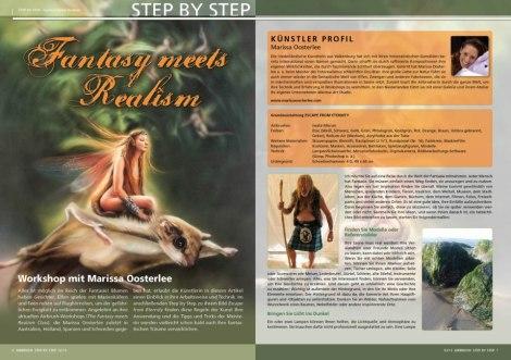 Airbrush magazine, new fantasy article published