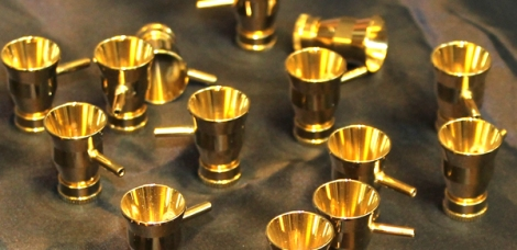 Golden (TiN) cups for the Iwata sb airbrushes